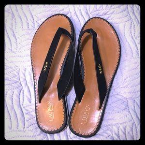 Ralph Lauren Black Flip Flops Size 8